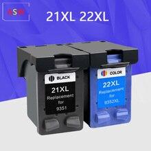 21 22 XL reemplazo de cartucho de tinta para HP 21 22 para HP21 21XL 22XL Deskjet serie F2180 F2280 F4180 F380 impresora 380