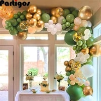 120pcs sage green balloons garland arch kit nude white gold metallic balloons for wedding engagement birthday party decoration