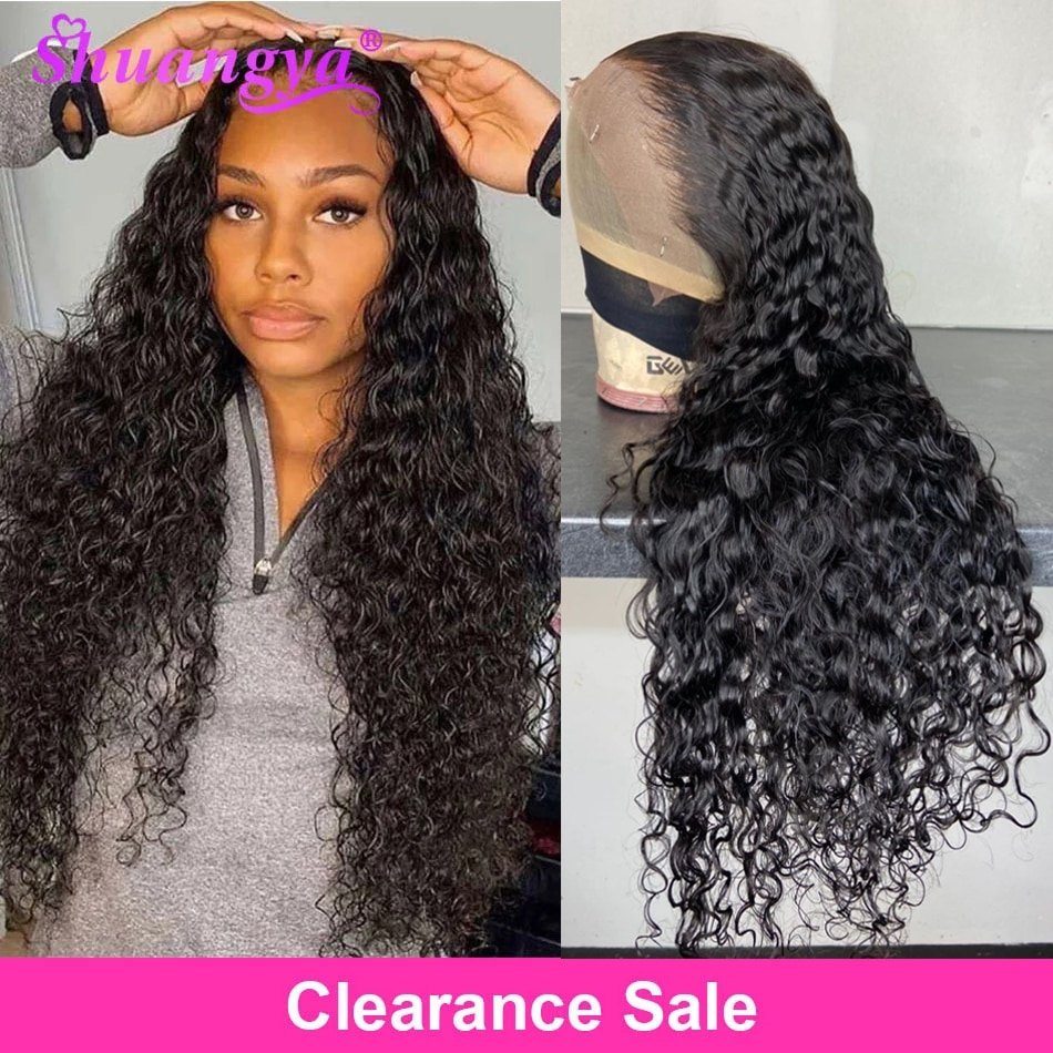 Brazilian Water Wave Lace Front Wig 100% Remy Human Hair Lace Wigs HD 5X5 Transparent Lace Closure Wig Long Curly Human Hair Wig