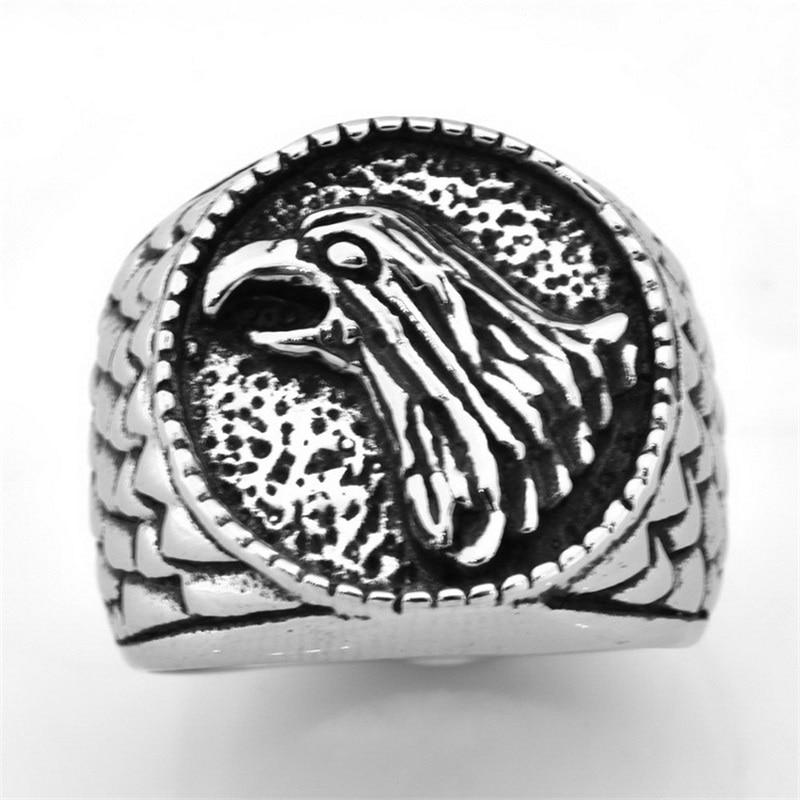 Viking Raven Ring Fashion Accessories Stainless Steel Raven Men's Ring Viking Jewelry