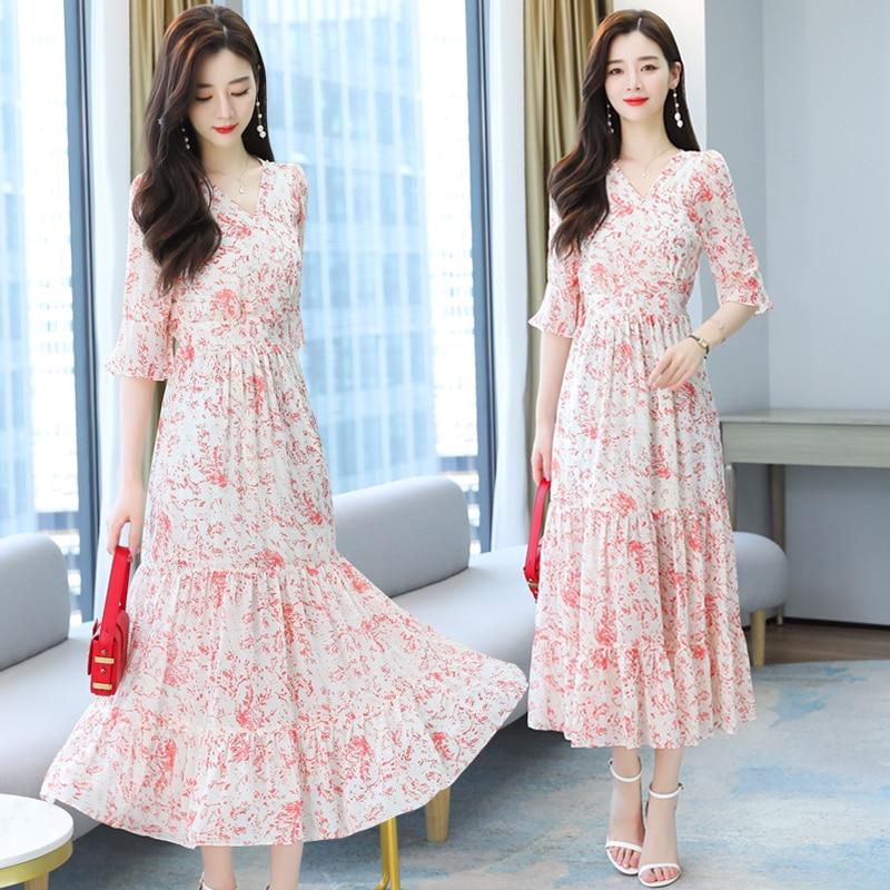 Summer Clothes For Women Roupas Femininas Robe Plage Longue Femme Ete Maxi Dress Jurken Zomer 2021Dames Evening Dresses Vestidos