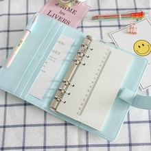 JIANWU Macarons PU liant A5 A6 cahier Journal livre de Calendrier planificateur journal feuilles mobiles liant mignon fournitures Scolaires