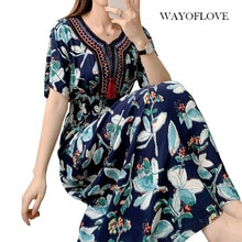 WAYOFLOVE Fashion High Waist Tassel Dress Women 2021 Vintage Prom Plus Size Long Dresses Summer Beac