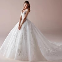 luxury wedding dresses sleeveless v neck lace applique charming gowns sexy backless court train robe de mari%c3%a9e tailor made