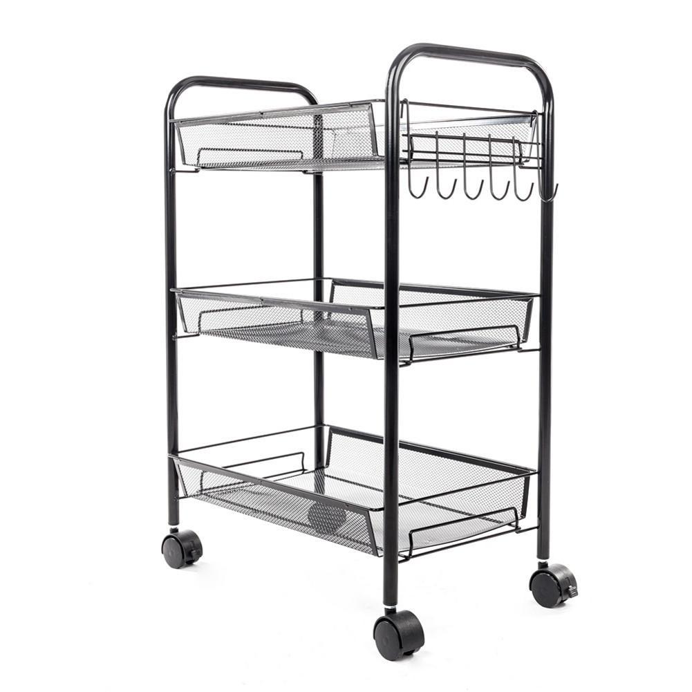 Catering Serving Trolley Cart Restaurant Kitchen Use Stainless Steel Rolling Utility Cart Shelf Transport Saving Storage Rack