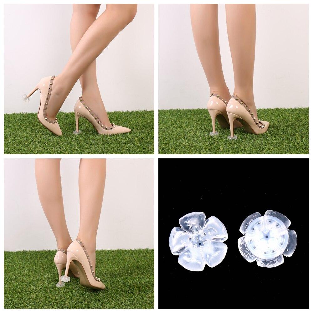 Mais recente Forma de Flor Protetores de Salto de Sapato de Salto Stiletto Alta Heeler Saver Rolha Calcanhar de Silicone Antiderrapante para Festa de Casamento Nupcial