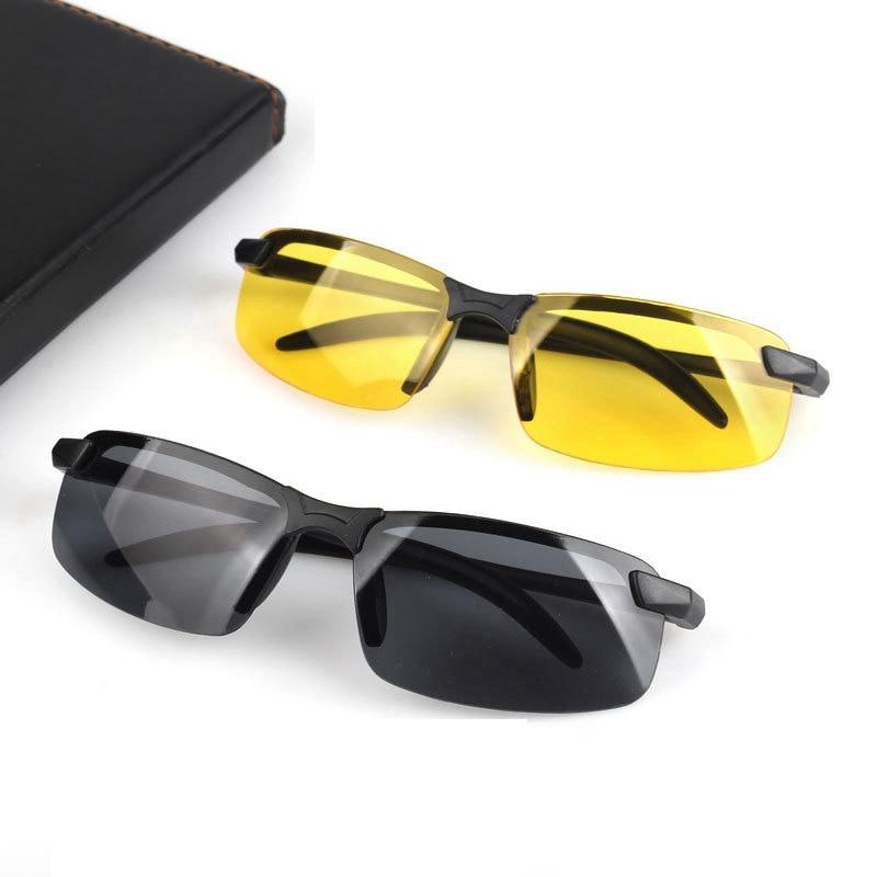 Universal Night Vision Glasses Sunglasses Men Outdoor Sport Sun Glasses Driver Goggles Black/Yellow
