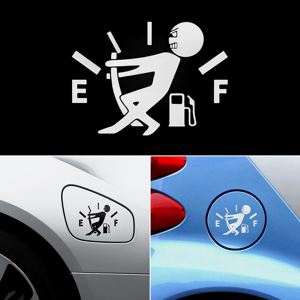 Adesivos de Carro engraçado Decalque Combustível Vazio para golf mk3 jetta honda civic 2017 jimny citroen c3 corolla 2018 ford ranger peugeot 308