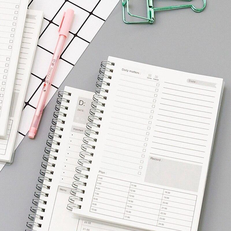 2020 cuadernos planificadores Manual de eficiencia organizador diario Libretas Cuaderno Mensual papel Kraft agenda Filofax
