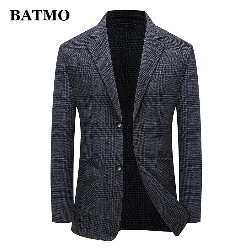 BATMO 2021 جديد وصول الخريف الصوف منقوشة سترة الرجال عادية ، بدلة رجالي سترة بليزر حجم كبير M-XXXL 2285