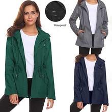 Модные женские непромокаемые легкие дождевики с капюшоном, дождевик, повседневная куртка, женские куртки для девочек, блузка, топы