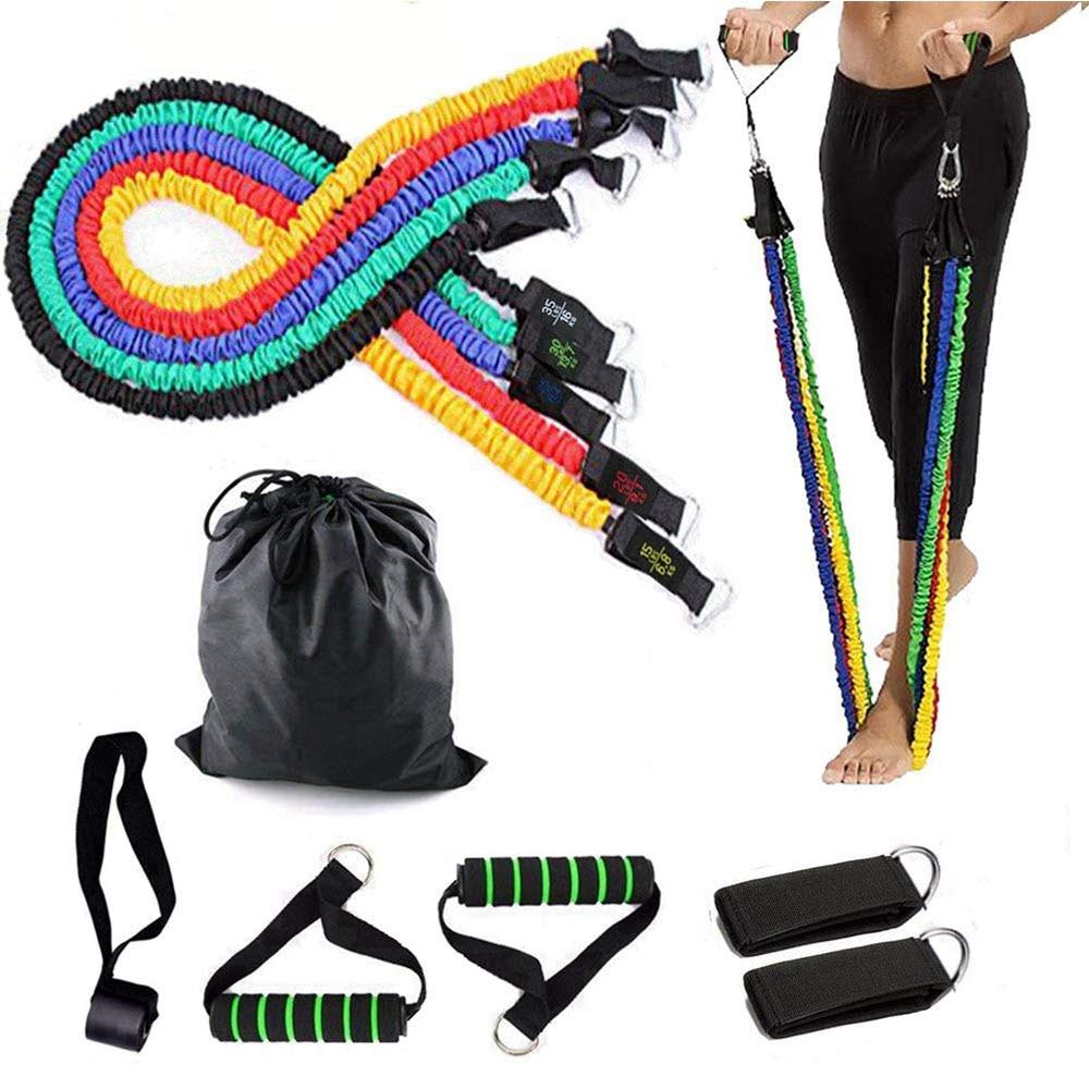 Resistencia cinta para Crossfit Yoga de tirar de entrenamiento conjunto bandas de ejercicio puerta ancla gimnasio para el hogar músculo equipo de entrenamiento