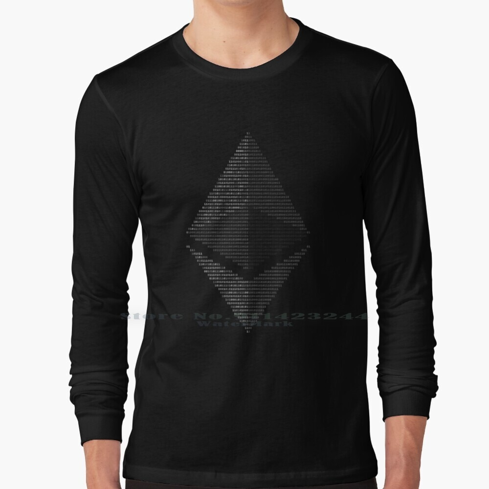 Ethereum Binary Long Sleeve T Shirt Tee Ethereum Money Rich Geek Nerd Trading Blockchain Cryptocurrency Coins Hodl Investment