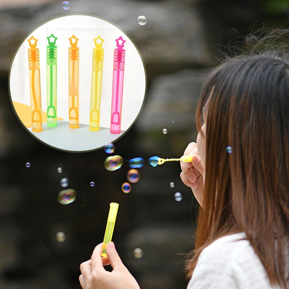 Nuevo palo de burbuja creativo juguetes cuadrados de playa para niños colorido mini palo de burbuja