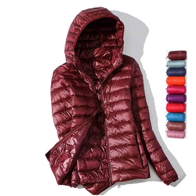 Ultra Light Down Jacket 2020 New Parkas basic Winter jackets Female Women velvet hooded Coats autumn