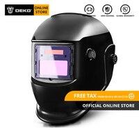 DEKO DKMZ350 Solar Automatic Darkening Welding Helmet Welding Mask Automatic Welding Shield for MIG TIG ARC Welding Machine
