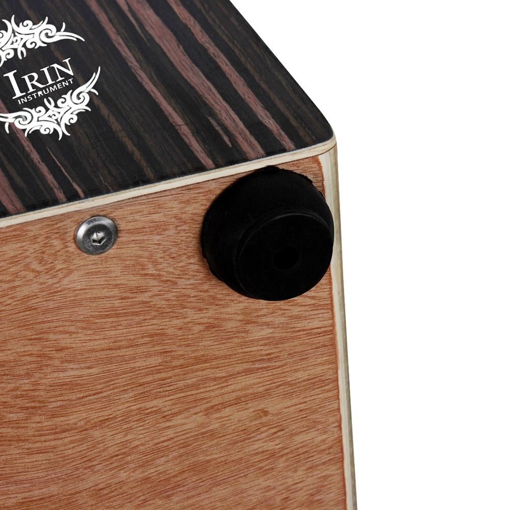 Wooden Cajon Box Drum Hand Drum Percussion Instrument With Strings Rubber Feet Ebony Panel Box Drum With Carry Bag 46.5*30*29 CM enlarge