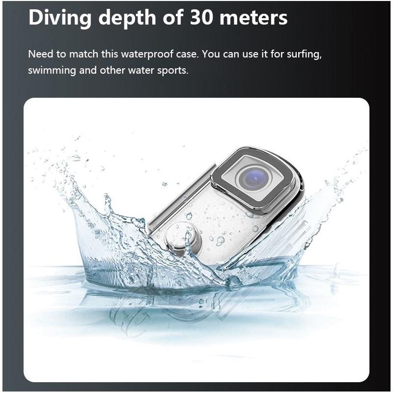 SJCAM C100 / C100 PLUS Action Camera C100+ Thumb Camera 2K 30FPS 1080P H.265 12MP 2.4GHz WiFi 30M Waterproof C100PLUS Webcam