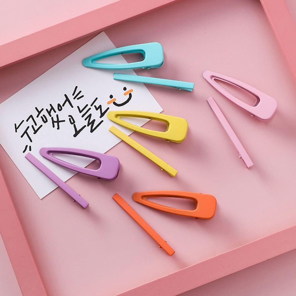 2 stücke/set 2019 Neue Fluoreszenz Candy Farbe Mädchen Haar Clips Snap Clip Haarnadeln Metall BB Clip Frauen Mädchen haar Styling Zubehör