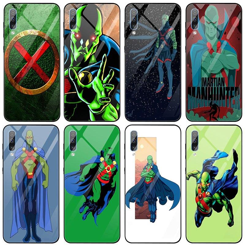 De dibujos animados de Martian Manhunter para Samsung Galaxy J4 A8 A9 A10 A20 A30 A40 A50 A70 A80 A90 S8 S9 S10 Plus de cristal templado de teléfono casos