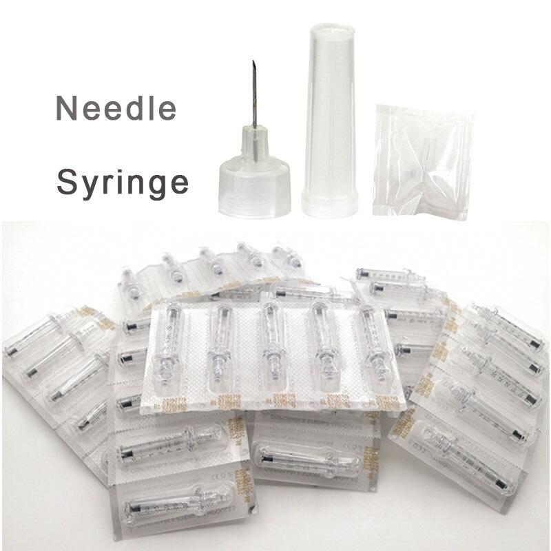 Jeringa de 0,3 Ml, jeringa para cabeza de ampolla, inyección desechable con atomizador estéril, jeringa de agua, arrugas antienvejecimiento para pluma Hyaluron