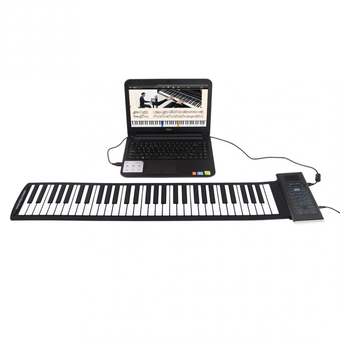 88 Keys USB MIDI Output Roll Up Piano Rechargeable Electronic Portable Silicone Flexible Keyboard Organ Built-in Speaker enlarge