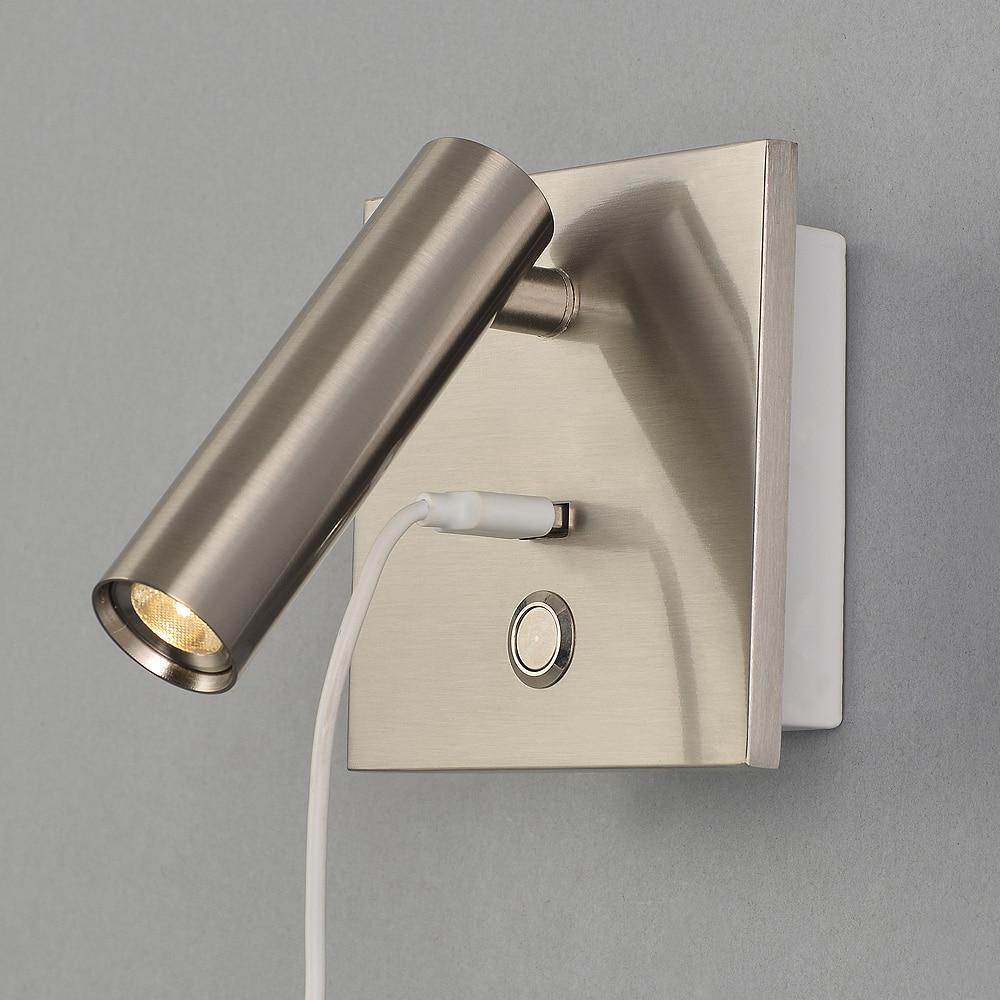 Zerouno متعددة الوظائف أضواء الجدار غرفة نوم اللوح الأمامي أضواء لغرفة النوم مع دفع التبديل تيار مستمر USB شحن ميناء إعادة إرسال تثبيت