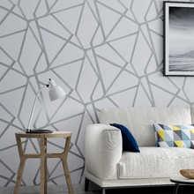 Серая Геометрическая настенная бумага для гостиной, спальни, серо-белая узорная Современная дизайнерская настенная бумага в рулоне, домашн...
