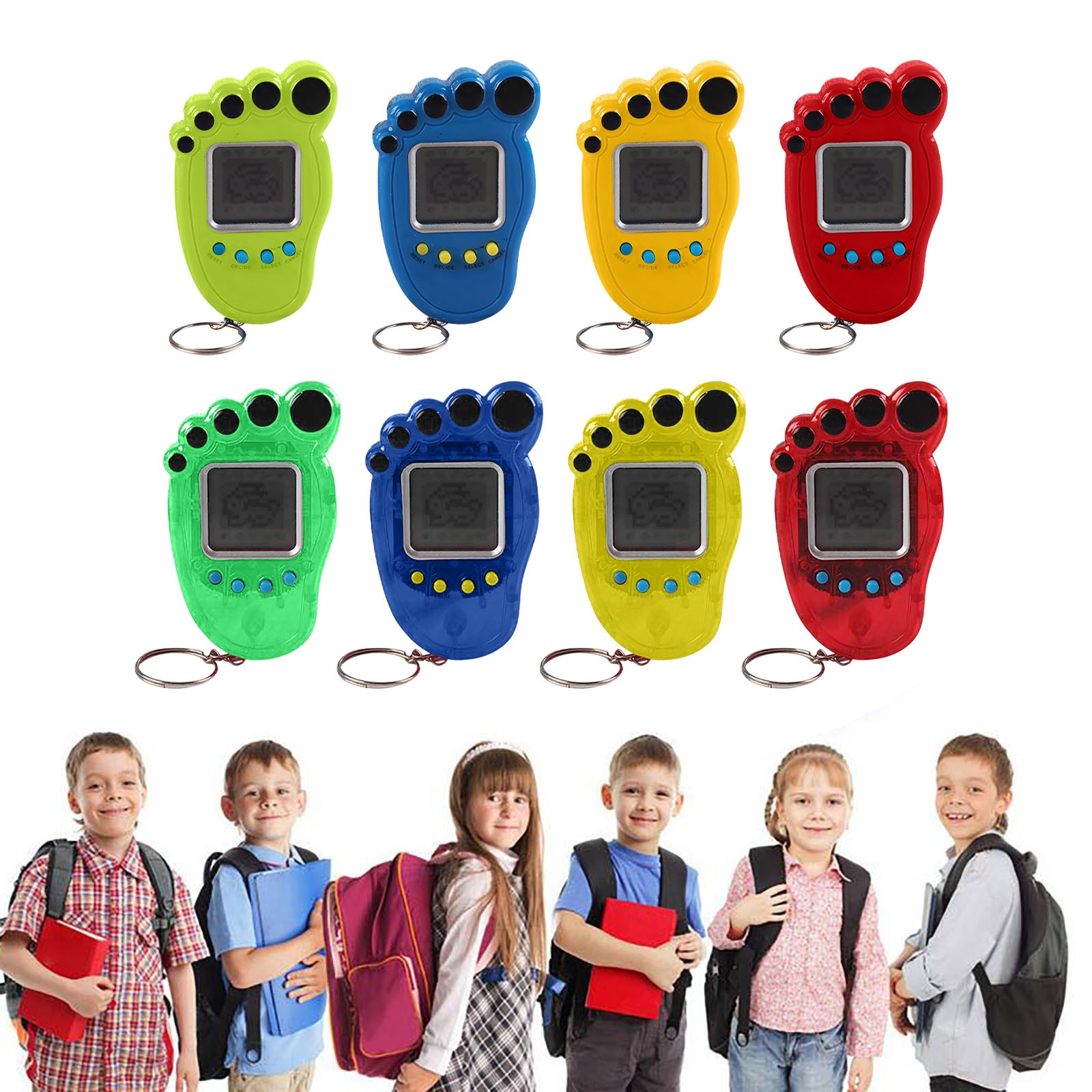 Portable Mini Electronic Virtual Pet Machine Keychain Virtual Pet Keychain Retro Handheld Game Machi
