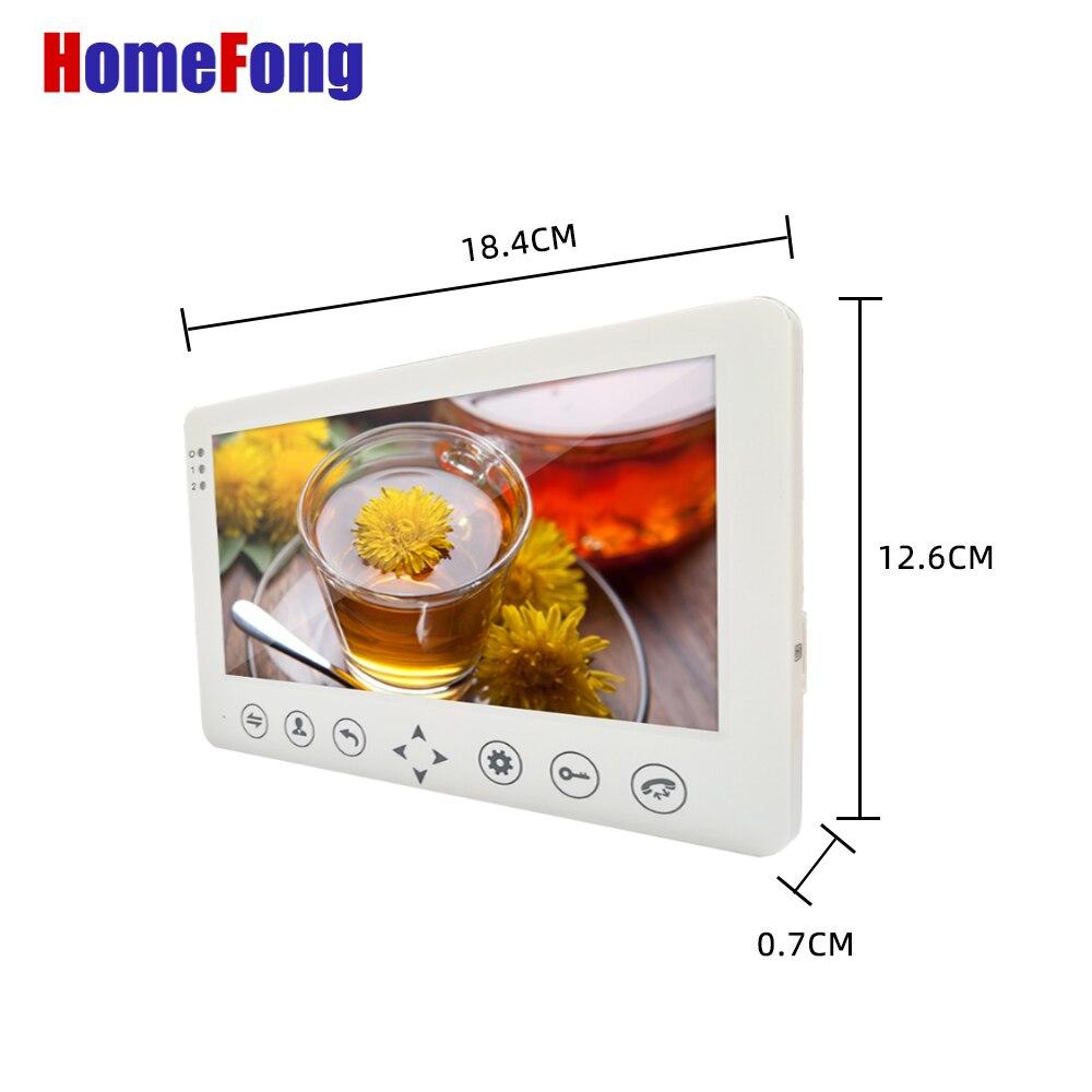 Видеодомофон Homefong с сенсорной кнопкой, 7 дюймов, 1200TVL