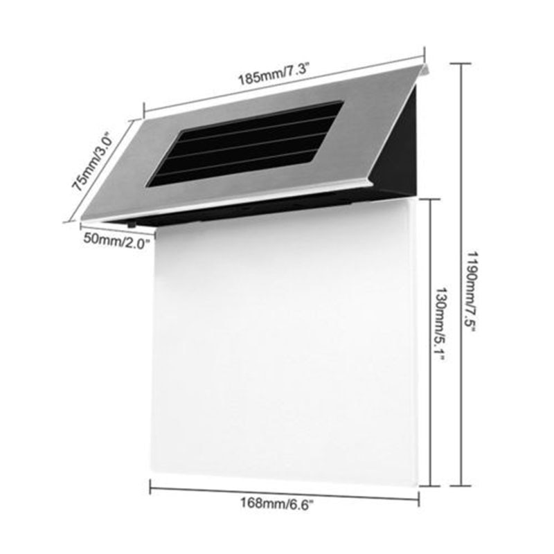 Plaque Lampe Solar Powered LED Licht Moderns Hause Edelstahl Haus Tür Nummer