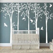 Les 3 TreeStickers blanc bouleau arbre stickers muraux bouleau arbres stickers muraux amovible