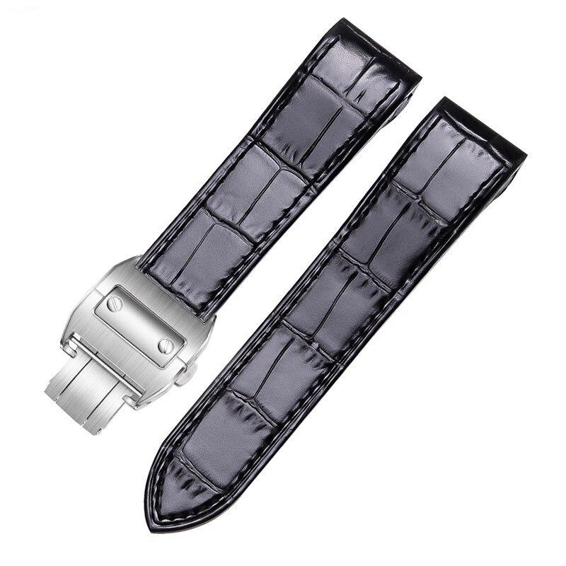 حزام ساعة من الجلد الطبيعي عالي الجودة لسلسلة كارتييه 20 مللي متر ، تصميم أنيق 23 مللي متر ، شحن مجاني