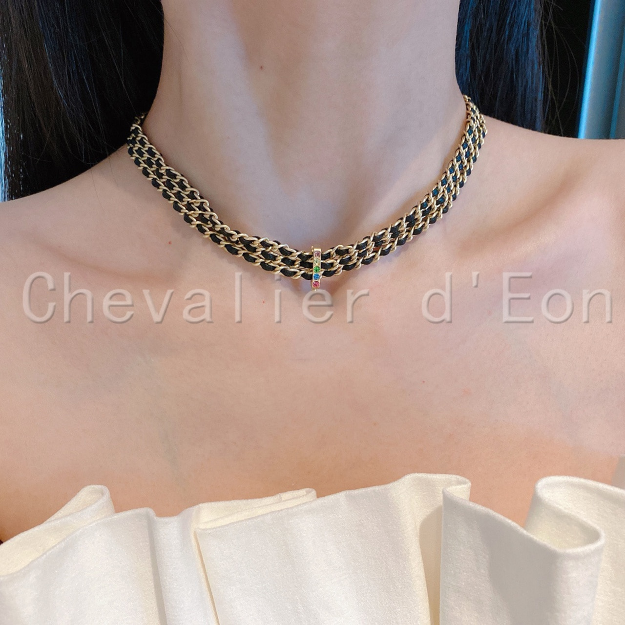 Chevalier d'Eon Vintage Multi-layer Chain Choker Necklace For Women Gold Color Fashion Punk Chain Necklaces Jewelry