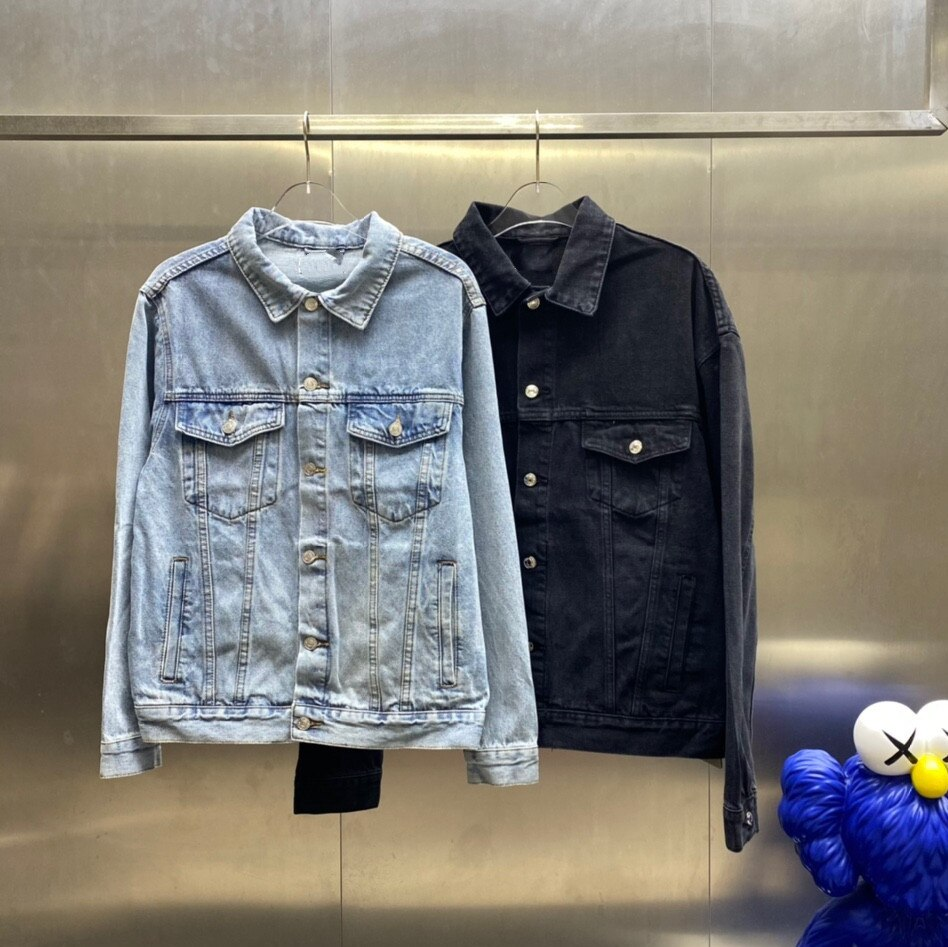 2021 Paris Spring and summer Fashion Hip Hop Denim Jacket Male Cowboy Ripped Hole European Size S~XL 62