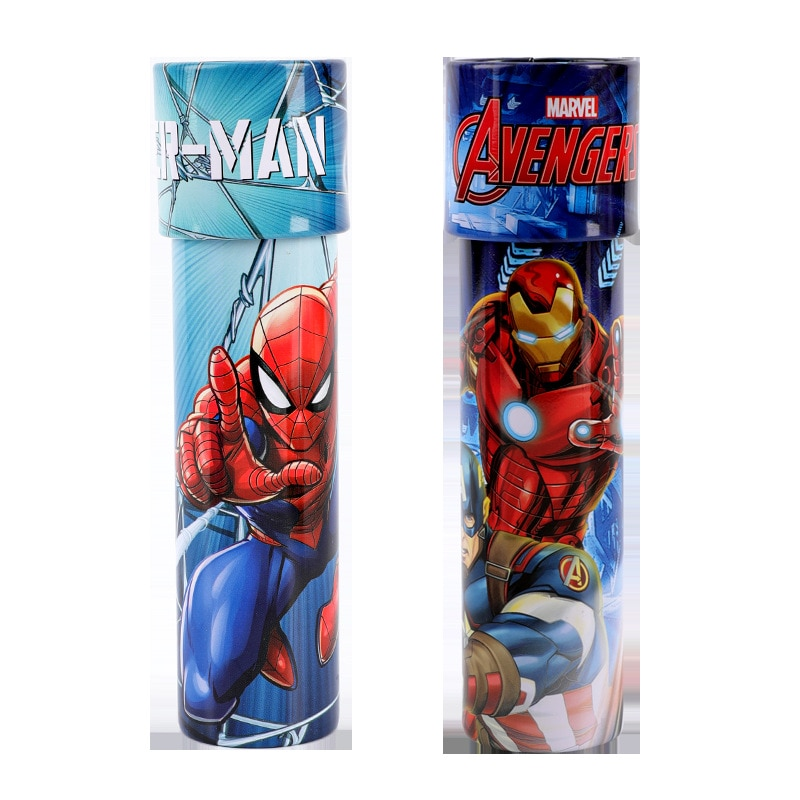 Disney Original Marvel Series Traditional Kaleidoscope Children's Science Toy Iron Man Spider-Man Polyprism Boy Girl Gift 17cm height polyresin iron man with luminous base boy s gift
