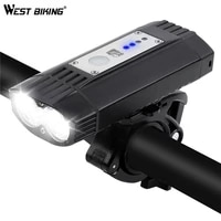 west biking 4000mah bicycle light t6 usb mtb road bike headlight flashlight bike accessories 5 mode led cycling front light lamp