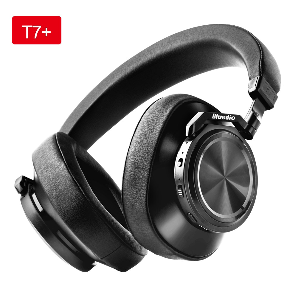 Bluedio T7+ Headphone Bluetooth User-defined Active Noise Cancelling Wireless Headset With Microp For phone Support SD Card Slot