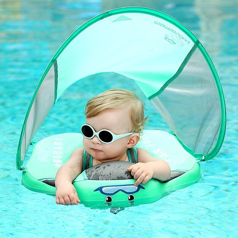 Ненадувной поплавок для младенцев, пояс для купания, Лежачее кольцо для плавания, аксессуары для бассейна, для купания, для младенцев