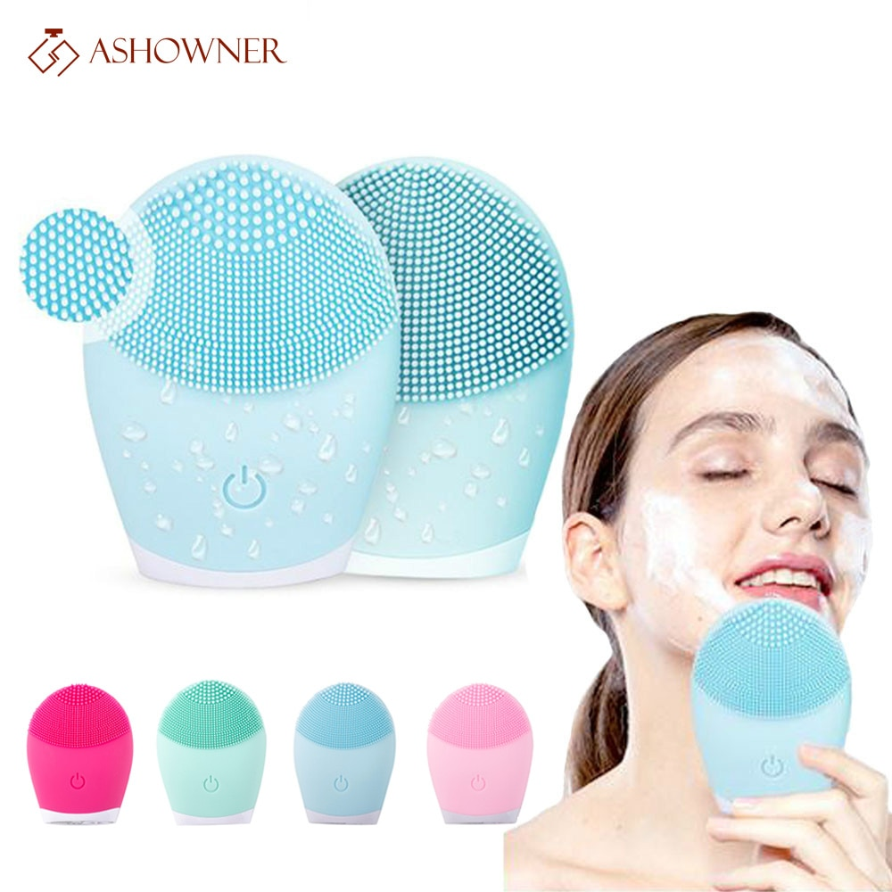 Cepillo de limpieza Facial de silicona de dispositivo eléctrico de limpieza Facial...