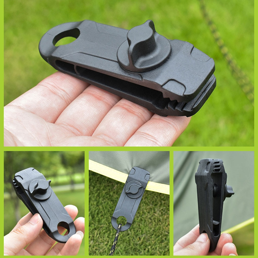 10pcs Clips Heavy Duty High Quality Durable Premium Lock Grip Awning Clamp for Canopies Camping Tarps Caravan