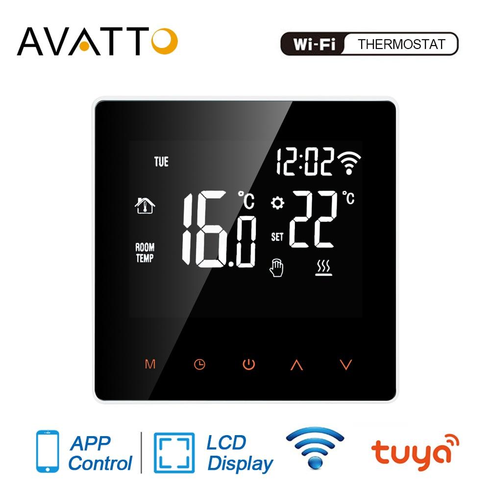 AVATTO Tuya واي فاي الذكية ترموستات ، التدفئة الكهربائية الكلمة المياه/الغاز المرجل درجة الحرارة تحكم عن بعد لجوجل المنزل ، اليكسا