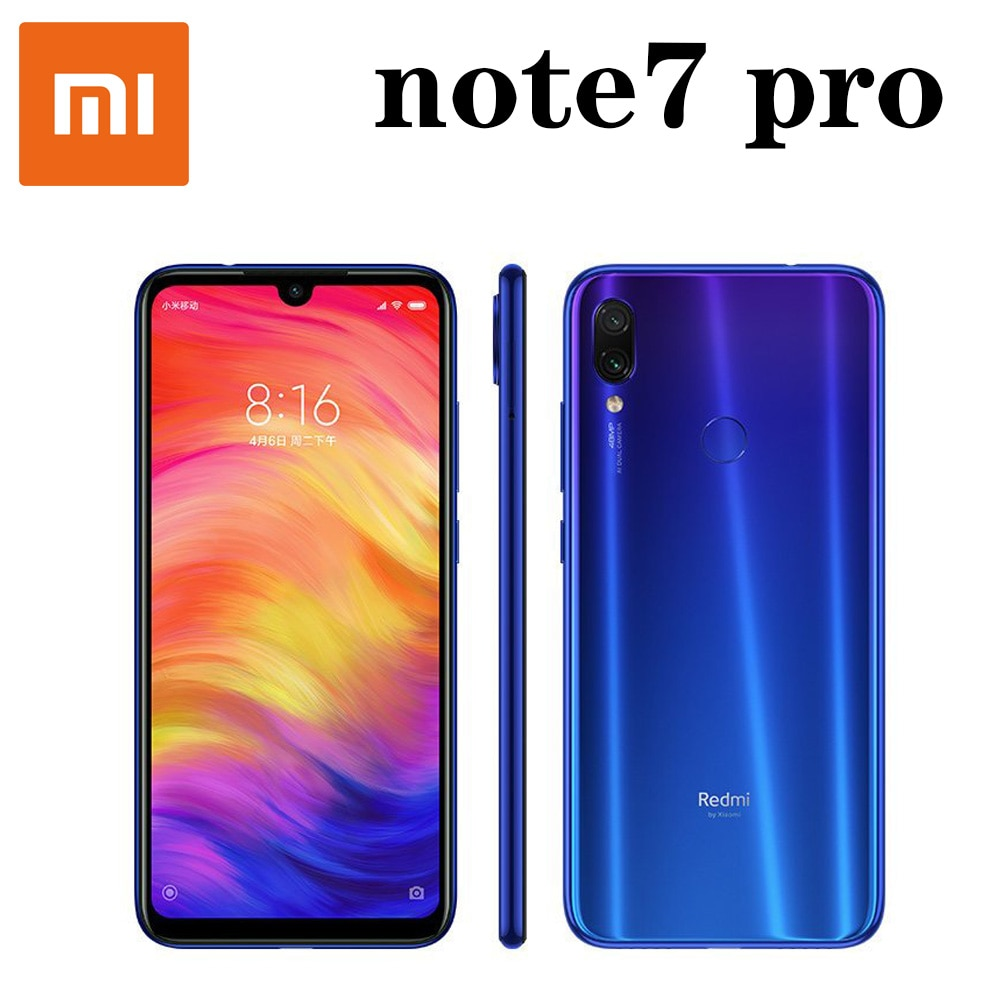 smartphone Xiaomi redmi note7 pro mobile phone Snapdragon 675 with 48.0 MP Camera Fingerprint Quick Charge 4.0 Fast charging 18W
