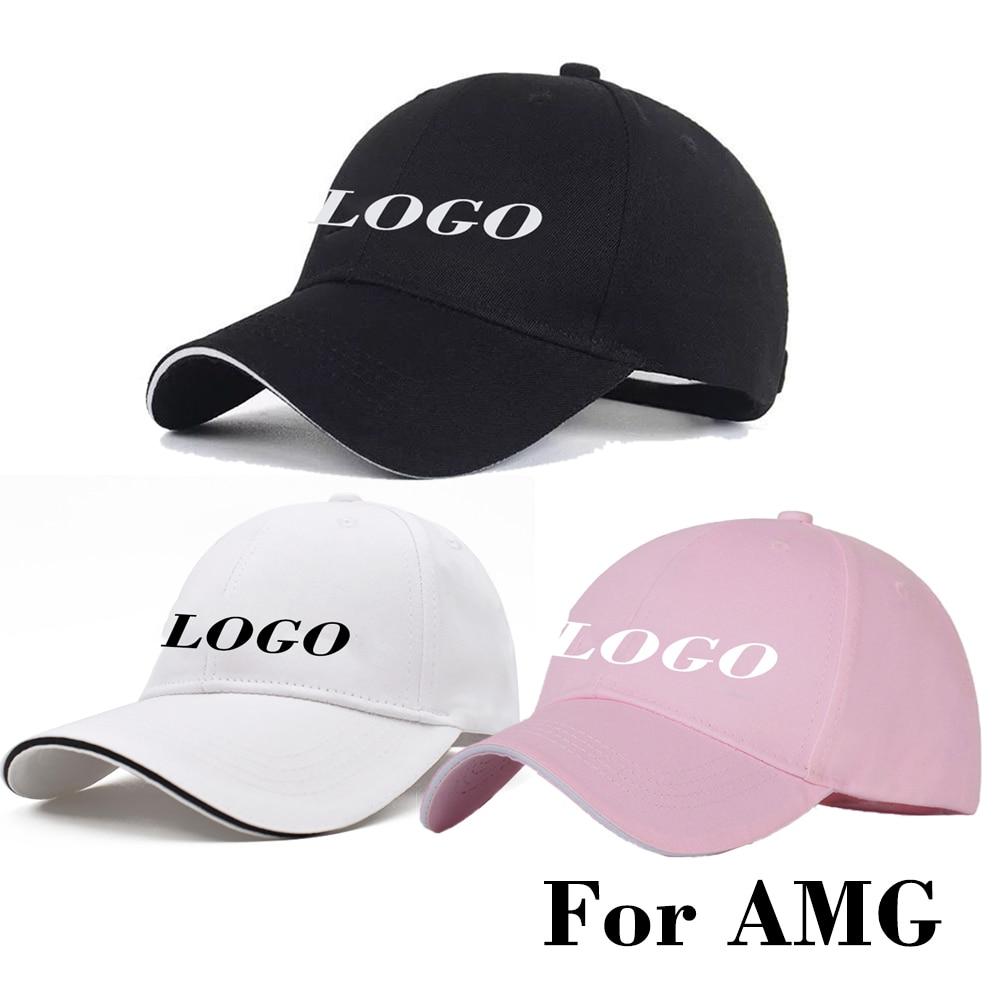 Embroidery Car Logo Baseball Cap for AMG Coche Emblem Sunhat Adjustable Outdoor Sports Sun Hat Men Women Chapeau Fashion Black