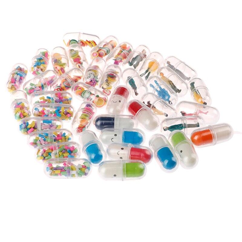 10PCS Slime Mini Capsule Coloured Man Smiling Face Slime Filler For Kids Plasticine DIY Slime Accessories Decoration Supplies