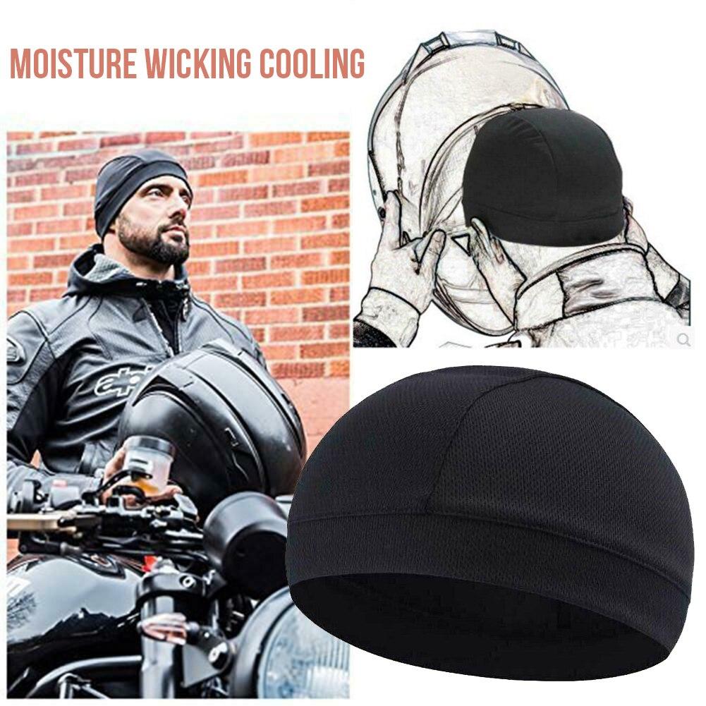 Влагоотводящая охлаждающая шапка с черепом, подкладка для шлема, облегающая шапка, s купольная шапка быстро сохнет, черная шапка для велоспо...