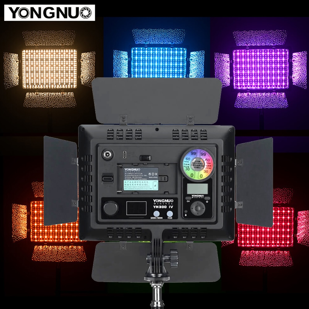 Yongnuo YN300 IV RGB بالألوان الكاملة Led لوحة إضاءة الفيديو 3200-5600K DSLR ملء الإضاءة YN300IV لكانون نيكون كاميرا سوني