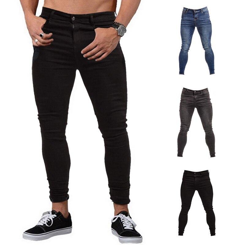 Novedad en pantalones vaqueros elásticos ajustados para hombre, pantalones vaqueros ajustados de estilo clásico a la moda, pantalones vaqueros ajustados lavados para hombre, pantalones vaqueros para hombre