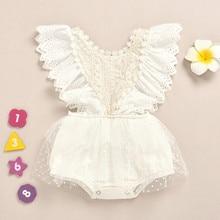 2020 baby girl clothes bodysuit body newborn clothes Fashion Infant Lace Ruffles Outfit Summer Wholesale Z4 боди для новорожденн