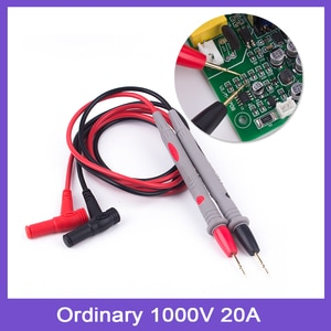1 Pair Multimeter Test Leads 1000V 20A Digital Multimetro Needle Tip Tester Lead Probe for Multimeter Accessories With 1 Clips